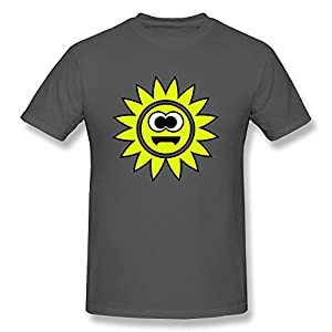 Men's Short Sleeves Shirt Smiley Sun Big Eyes Cotton