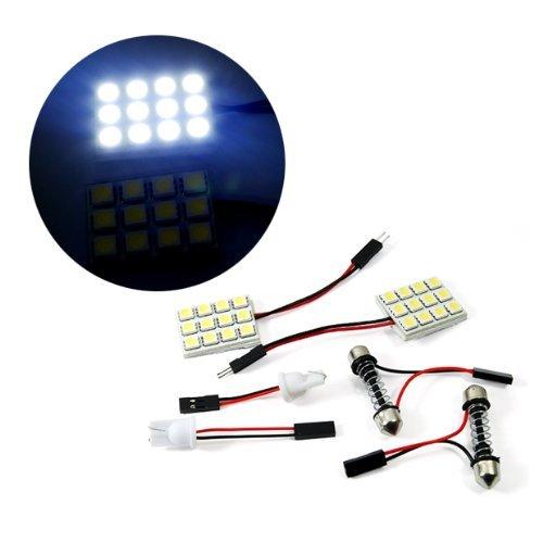 T10 12 Smd Led Super White Festoon For Car Interior Light Dome Bulb Adapter Lamp Indicator Side Door 12V