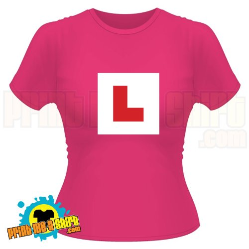 Ladies Learner l plates hen t shirt