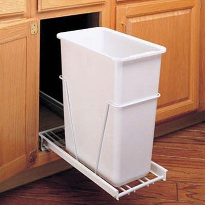 Rev A Shelf Rsrv.12Pb 35Qt Pull-Out Bins Floor Mount - White