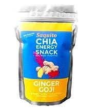 Saquito Chia Seed Energy Snack, Ginger Goji, 247 Grams