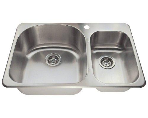 Mr Direct T3121L Topmount Offset Stainless Steel Kitchen Sink