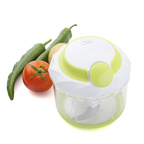 Uten Powerful Manual 4-Cup Food Chopper Vegetable Fruit Salad Mixer with 3 Stainless Steel Blades (Mixer Chopper compare prices)