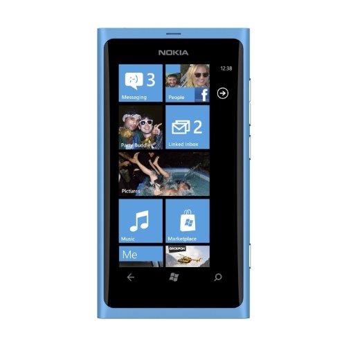 Nokia Lumia 800 Sim Free Windows Smartphone - Matte Cyan
