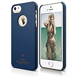elago S5 Slim Fit Case for iPhone 5/5S + HD Professional Extreme Clear film included - Full Retail Packaging (Soft Feeling Jean Indigo)