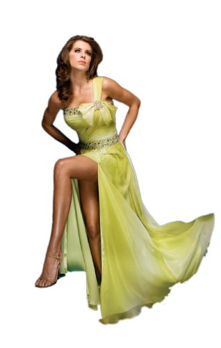 Classic Sheath/Column One-Shoulder Sweep/Brush Train Evening Dress With Beading Zipper-up