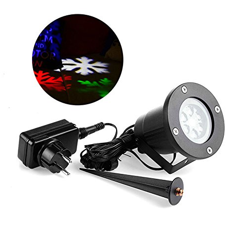 MEXUD Auto Moving Snowflake LED Landscape Projector Light Stage Holiday Lighting Gobo Stage Lights for Halloween Christmas Party Valentine's Day Birthday Wedding (Halloween Parties In Ny)