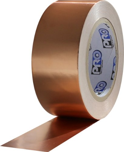 "Protapes Pro 882L Copper Conductive Foil Tape, 3.5 Mils Thick, 36 Yds Length X 3/4"" Width (Pack Of 1)"