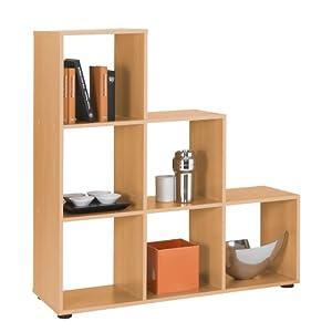 FMD Möbel 248001 Mega 1  Mobile libreria/Divisorio per ambienti, 104,5 x 108,5 x 33 cm (larghezza x altezza x profondità)   recensioni dei clienti Valutazione