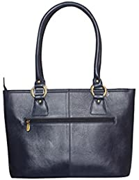 GAYLE BRAND Women's Blue Pure Leather Hand Bags