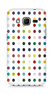 Amez designer printed 3d premium high quality back case cover for Samsung Galaxy Core Prime (Points background spot light)