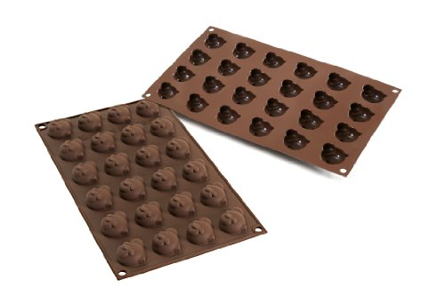 Silikomart Sf141 Silicone Easy Chocolate Mold, Panda front-234082