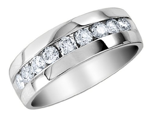 Mens Diamond Wedding Band 1/4 Carat (ctw) in