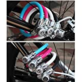 Banggood Mini Secure Anti-theft Cable Bicycle Bike Lock Steel Ring Padlock With 3 Keys