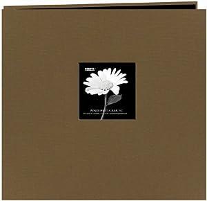 Pioneer 12-Inch by 12-Inch Fabric Frame Scrapbook, Warm Mocha