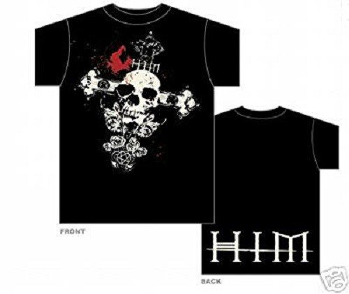 Him - T-Shirt Skullcross (in M)