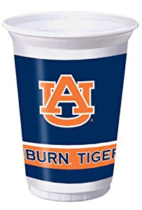 Buy Creative Converting Auburn Tigers Printed 20 Oz. Plastic Cups (8 Count) by Creative Converting