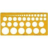 製図 円テンプレート定規003-001