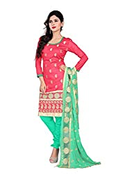 Khushali Presents Straight Dress Material(Sea Green)
