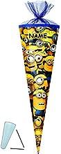 Schultüte - Minions - 85 cm - incl. NAMEN - Tüllabschluß - Zuckertüte - mit / ohne Kunststoff Spitze - für Mädchen & Jungen - Minon - ich einfach unverbesserlich