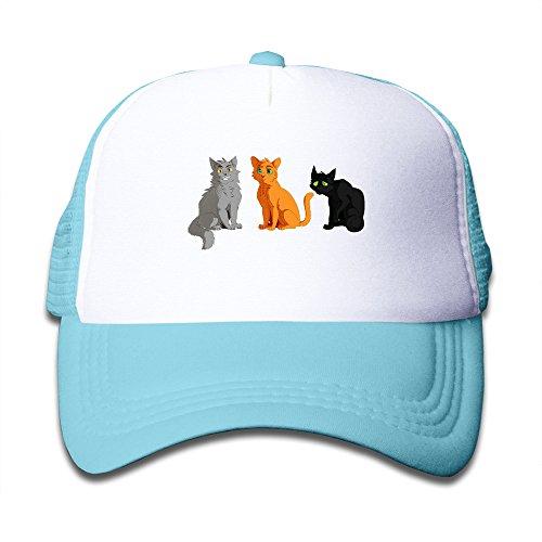 Custom Grumpy Pussy Cat Kids Trucker Caps Boys Girls Baseball Hat Adjustable Cotton SkyBlue By JE9WZ