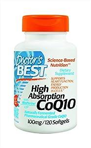 Doctor's Best High Absorption Coq10 w/ BioPerine (100 mg), 120 Soft gels