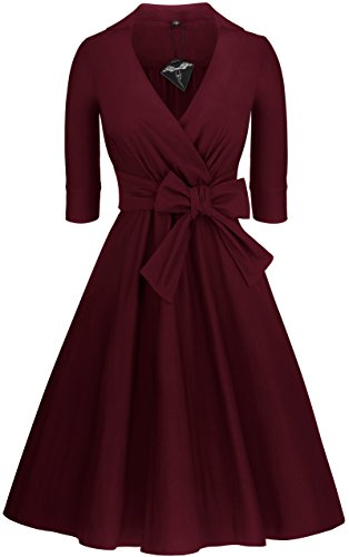 Angerella Vintage 1950's Classical Casual Swing Dress Junior Evening Dresses