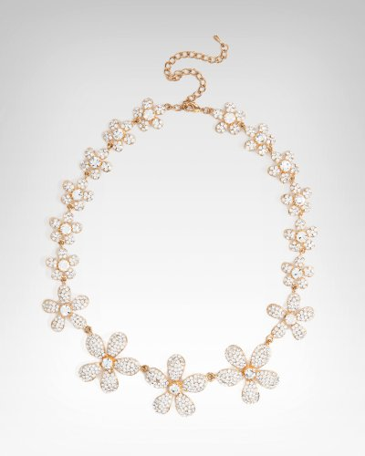 found a necklace to go with my dress .... sooooo excited :  wedding 41q6bNmt9KL. SL500  Plumeria Crystal Necklace - CRYSTAL IN GOLD (1SZ)