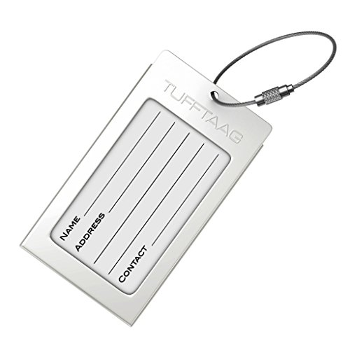Luggage tags business card holder tufftaag travel id bag for Airline luggage tag template