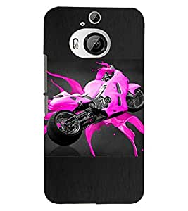 PRINTSWAG PINK BIKE Designer Back Cover Case for HTC ONE M9 PLUS