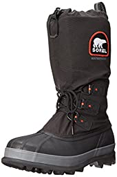 Sorel Men\'s Bear Extreme Snow Boot,Black/Red Quartz,9 M US