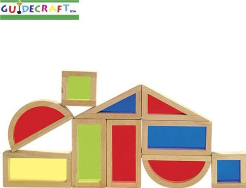 10 Pc See Through Color Wood Wooden Rainbow