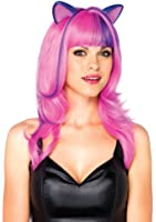 Leg Avenue Frisky Kitty Long Wavy Wig with Ears and Adjustable Elastic Strap