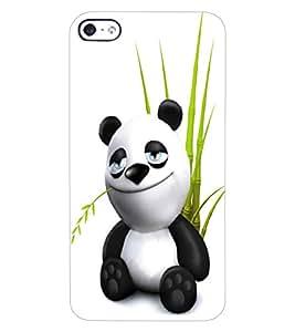 ColourCraft Cute Panda Design Back Case Cover for APPLE IPHONE 4