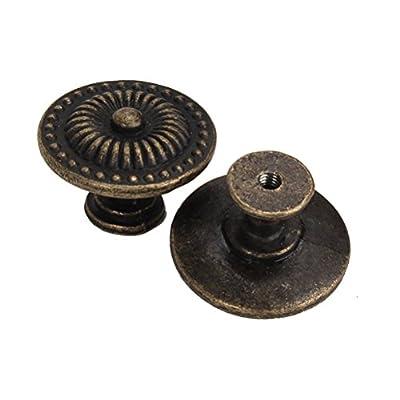 WINOMO Vintage Schrank Schublade Schrank Pull Griff Knopf 4pcs (Bronze) von WINOMO auf Gartenmöbel von Du und Dein Garten