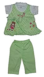 Wise Guys Top, T-Shirt & Leggings for Baby Girl Clothing Set (06 to 09 Months) CLOTHSET31