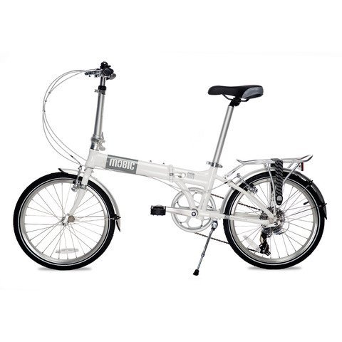 MOBIC Life X7 Folding Bike (Gray on Gloss White)