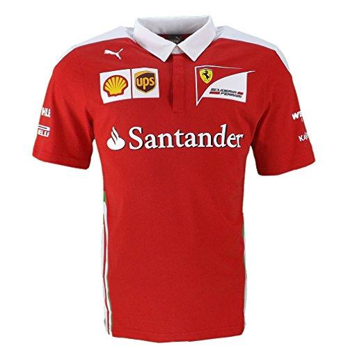 Ferrari F1 da corsa Replica SF squadra Puma Polo camicia rossa ufficiale 2016