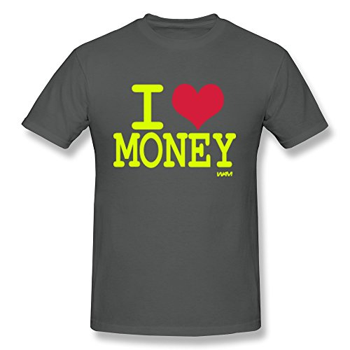 Ptcy Youth T-Shirts Love Money Us Size S Asphalt front-568213