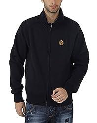 Fahrenheit Men's Fleece Sweat Shirt (8903942217708_Dark Blue_XX-Large)