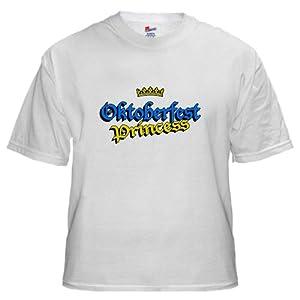 Oktoberfest Princess White T-Shirt White T-Shirt by CafePress