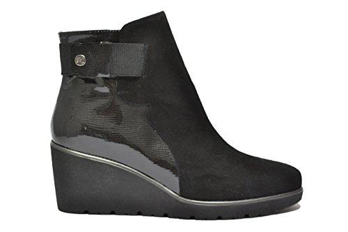 Melluso Polacchini zeppa nero scarpe donna R1012 38