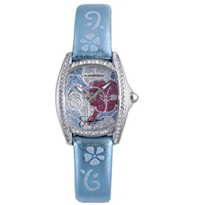 Hello Kitty Blue Floral Stainless Steel Watch