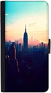 Snoogg New York New York Graphic Snap On Hard Back Leather + Pc Flip Cover Ht...