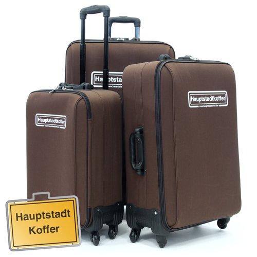 3er Set Softcase Kofferset Dunkelbraun von Hauptstadtkoffer