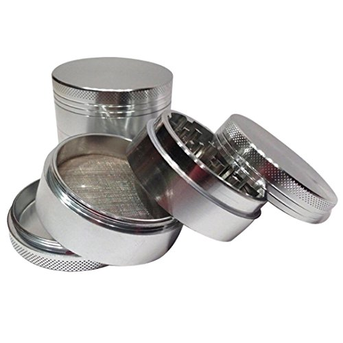 TOOPOOT-Silver-4-layer-Aluminum-Herbal-Herb-Tobacco-Grinder-Smoke-Grinders