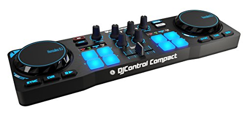 Hercules DJControl Compact super-mobile USB Controller with 8 Trigger Pads and 2 Virtual Turntable Decks (Deck Turntable compare prices)