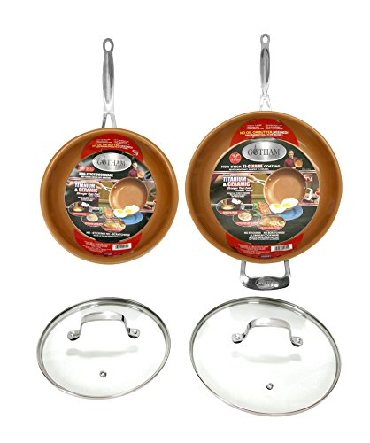 GOTHAM STEEL 2-Piece Set Frying Pan with Lid