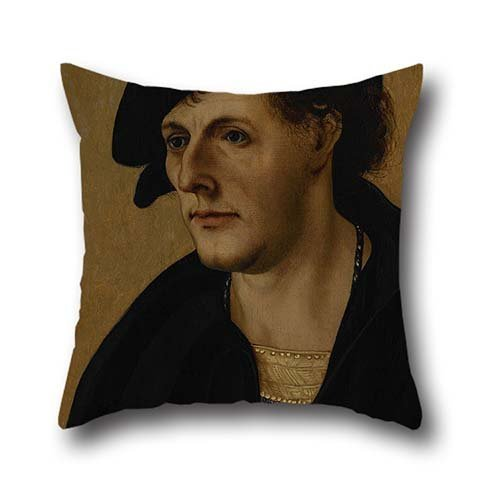 Oil Painting Schäufelein, Hans, The Elder - Portrait Of A Young Man Cushion Covers 20 X 20 Inch / 50 By 50 Cm For Him,coffee House,living Room,car,saloon,floor With Double Sides