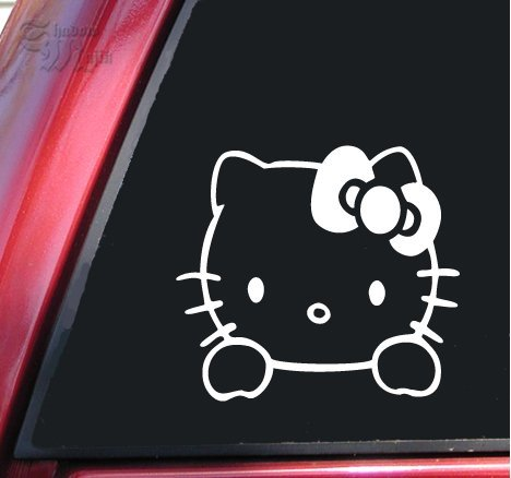 Hello Kitty Vinyl Decal Sticker | 6 X 5.5 In (Hello Kitty Bows V Neck Top compare prices)